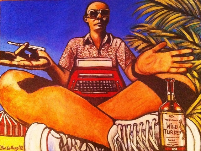 Hunter S. Thompson by Fin Collins