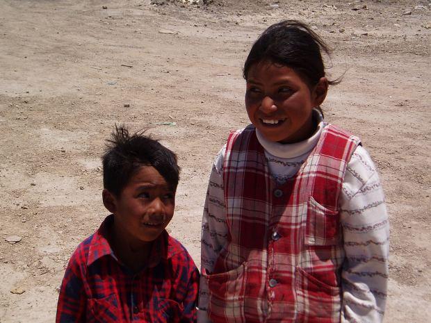 Bolivian Kids in the town of Uyuni