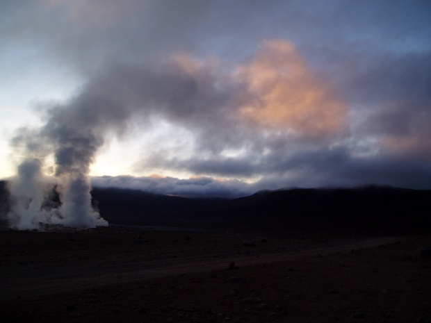 Geysers at Sunset