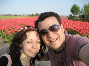 Wandering around the tulip fields