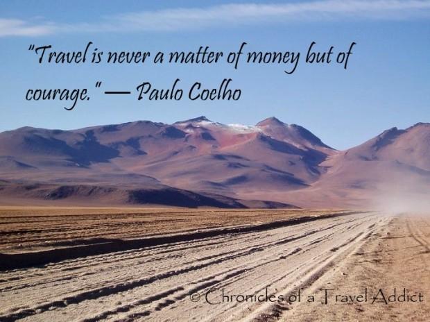 Andes photo w Paulo Coelho quote