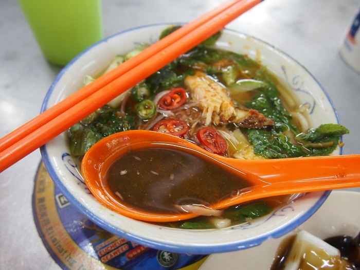 Assam Laksa, or fish broth noodles, in Penang