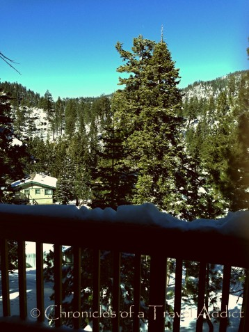 View from balcony in Lake Tahoe