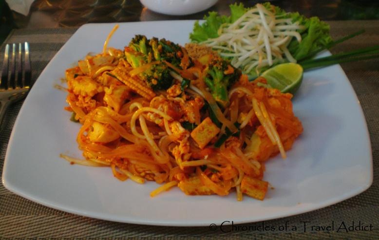 Mouth-watering, vegetarian pad thai in Phuket, Thailand