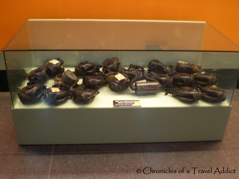 Gas masks used in the U.S./Vietnam War in the 1960s