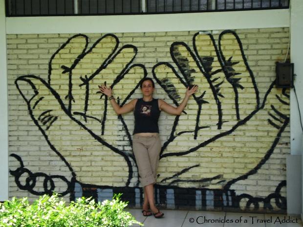 Graffiti Art in Managua, Nicaragua: Shackled Hands