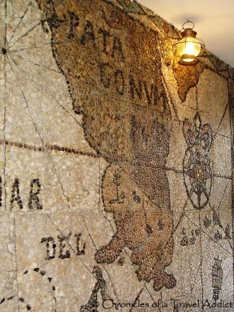 Pebble mural of Patagonia