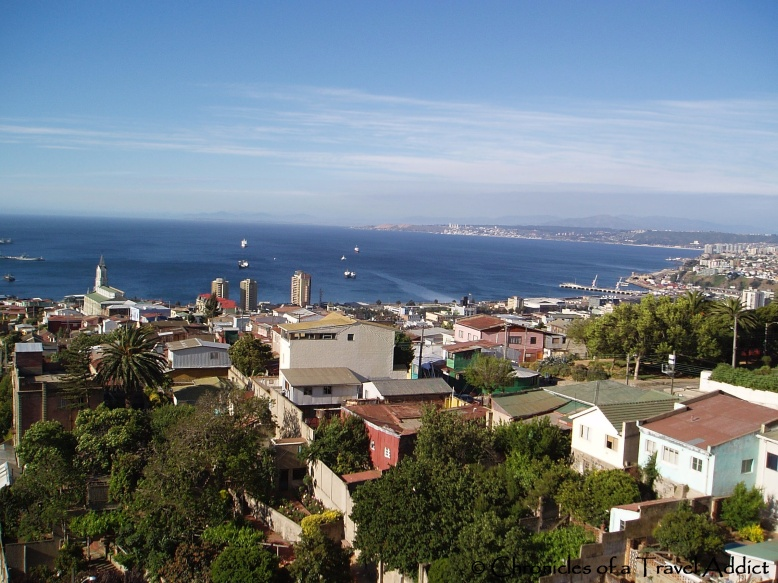 View of Valparaiso from Neruda's work station