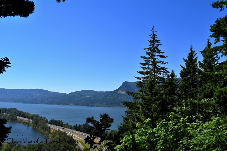 View of the Columbia River about 3/4 of the way up on the trail