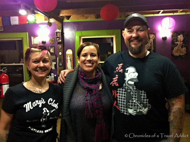 The uber-talented Martians and me at their Martian Arts Studio in Portland, OR, USA