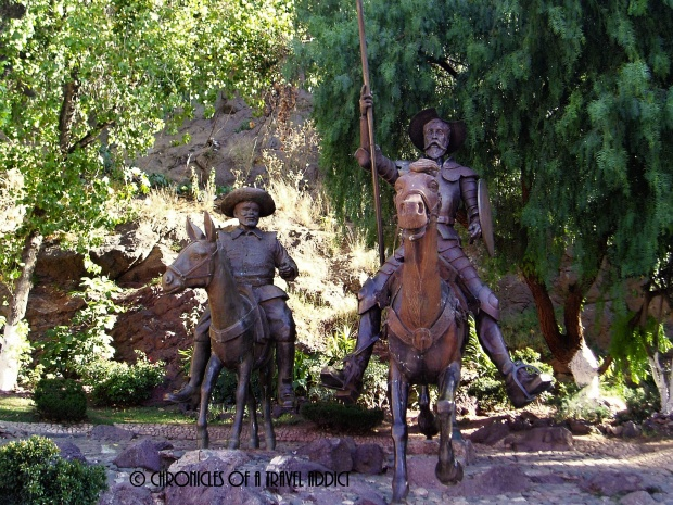 Statue of Don Quixote and Sancho Panza in Guanajuato. Every October, travelers all over the world gather here to celebrate Cervantes.