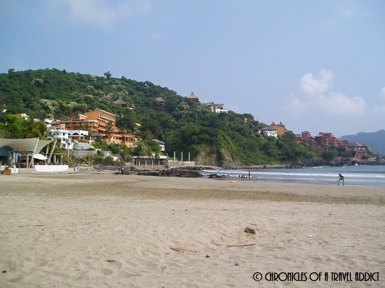 View of the beachscape in Zihuatanejo.