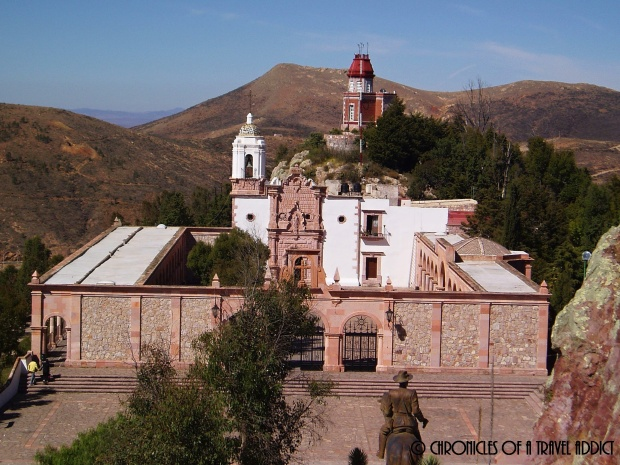 La Toma de Zacatecas Museum, which holds remnants of the Mexican Revolution, and honors key figures like Pancho Villa. View from La Bufa.
