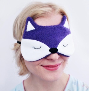 How could you not slumber happily while wearing HannahDoodle's fox eye mask?