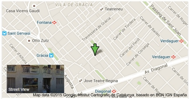 Map of Gracia City Hostel