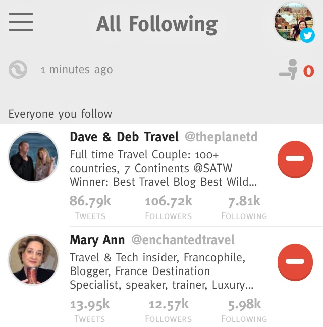 Keep track of who you follow, and who follows you back, easily with apps like crowdfire