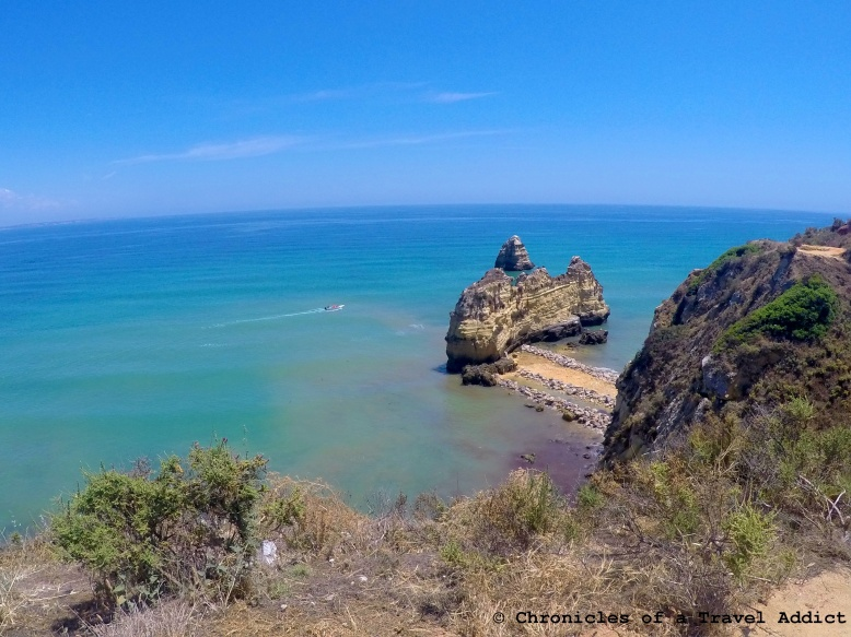 On the beach trail in Lagos, Portugal