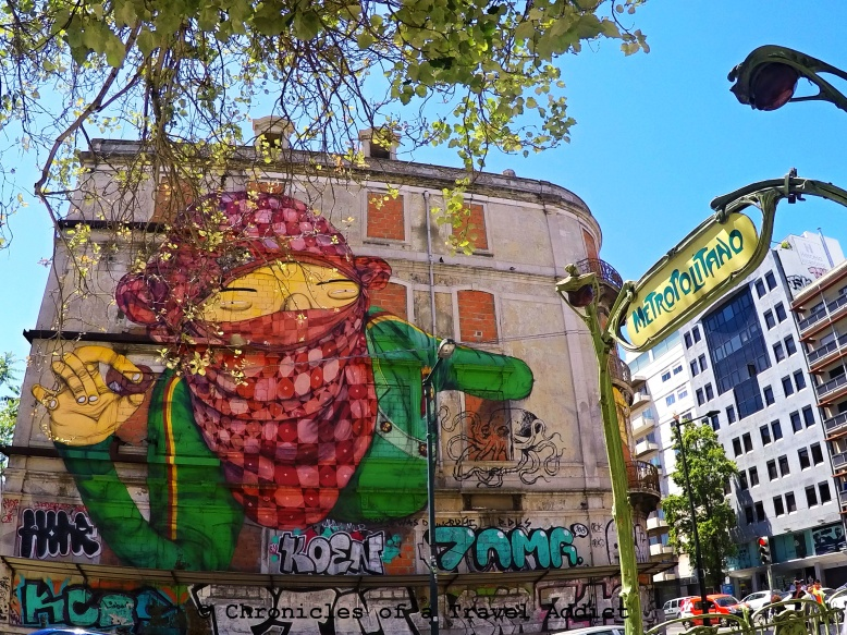 Os Gemeos' graffiti art found in Lisbon. Everywhere you look in Portugal, there's beauty to be found.